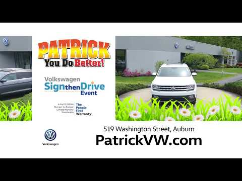 Patrick Motors Volkswagen Sign Then Drive Event April 2019