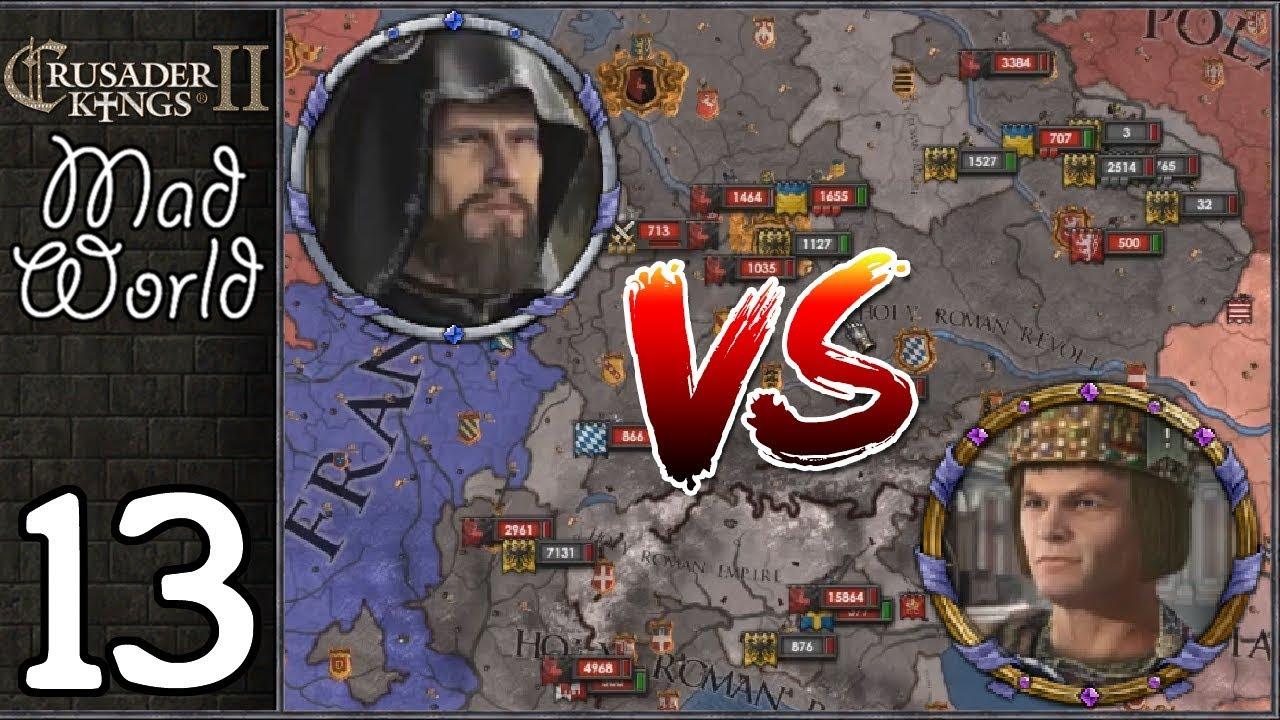 Crusader Kings 2: Mad World #13 - Wolf God vs Kaiser