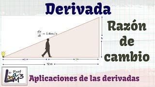 Problema sobre derivada | Razón de cambio | La Prof Lina M3
