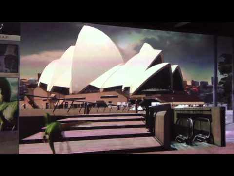 CGI video simulation from Tyrannosaur! (Australian Museum, Sydney)