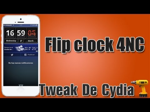 Flip Clock For Notification Center | Agrega un reloj a tu NC