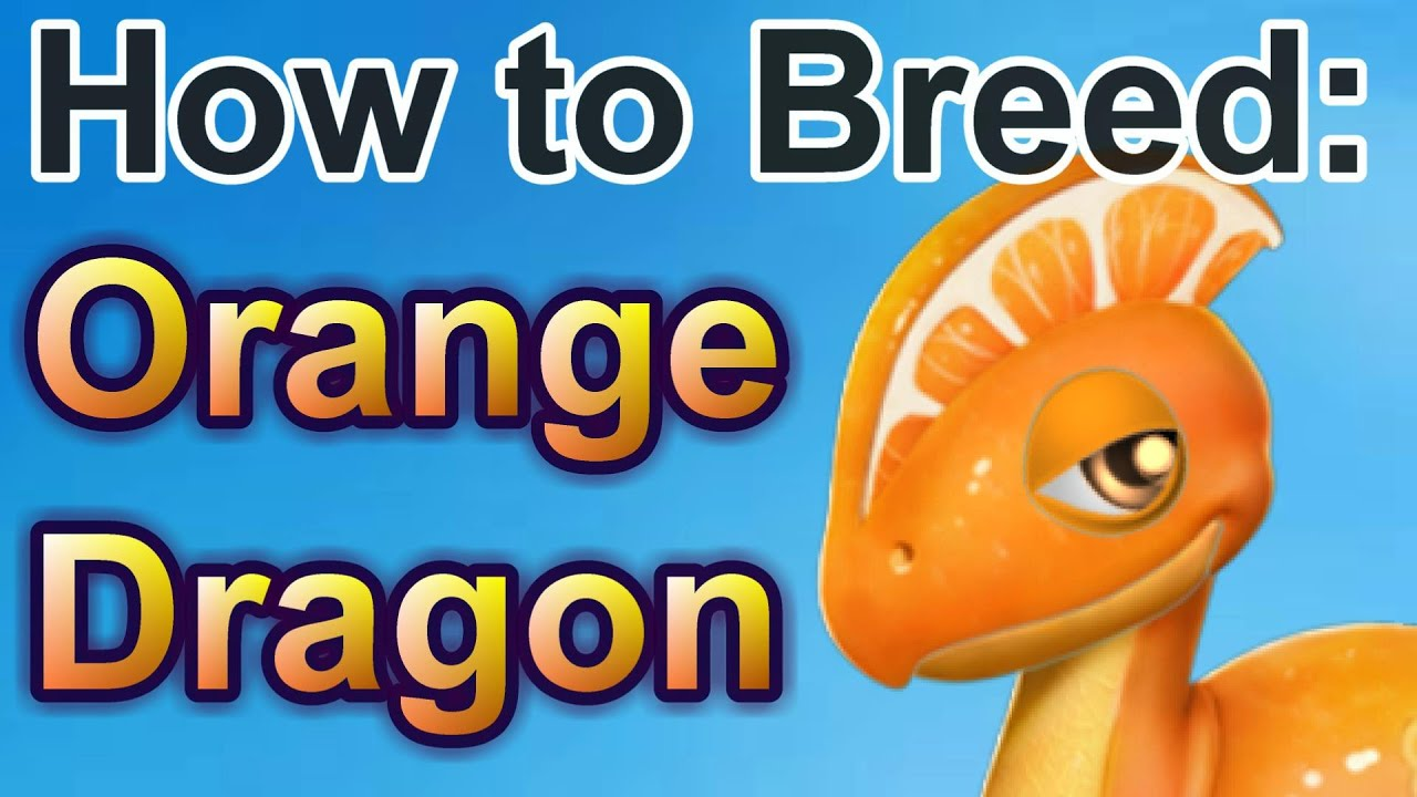 how to breed  orange dragon - dragon mania legends