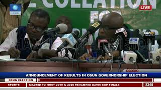 Collation Of Results For Osun Governorship Supplementary Election Pt.2