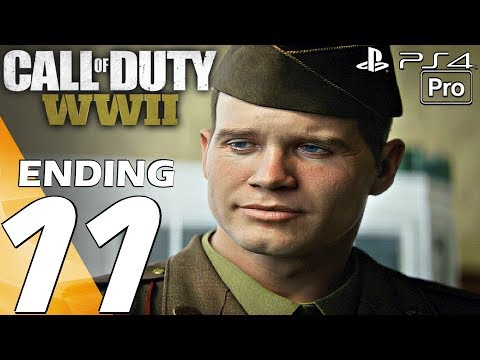 Call of Duty WW2 - Gameplay Walkthrough Part 11 - Final Mission & Ending (Campaign) PS4 PRO