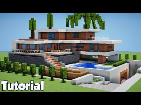 Minecraft: How to Build a Modern Beach House - Tutorial (#10)