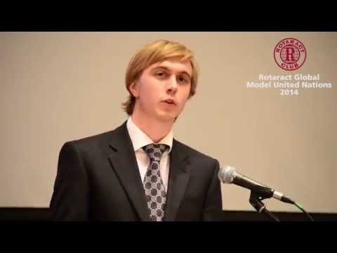 Jack Watling @ Rotaract Global MUN 2014