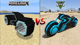 MINECRAFT TRON BIKE VS GTA 5 TRON BIKE - WHICH IS BEST?