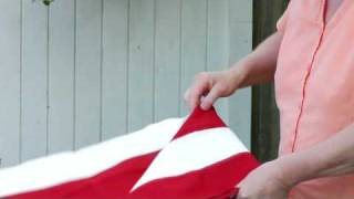 How to Handle & Fold the American Flag : How to Fold a Flag Navy Style