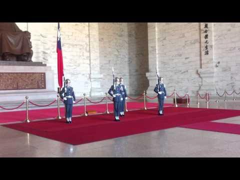 Changing of the guard at the Chiang Kai Shek Memorial Hall.