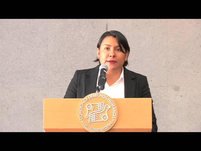 Discurso de la Dra. Perla Gómez en la presentación de la Recomendación 14/2015