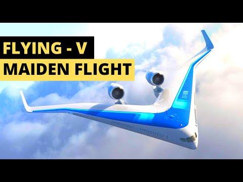 Flying V Plane Successful Maiden Flight