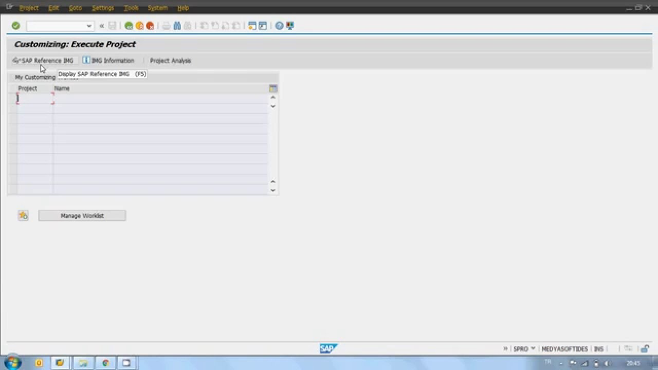 how to create inventory in sap