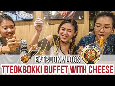 DOOKKI - SINGAPORE'S FIRST TTEOKBOKKI BUFFET WITH CHEESE RING | Eatbook Vlogs | EP 17