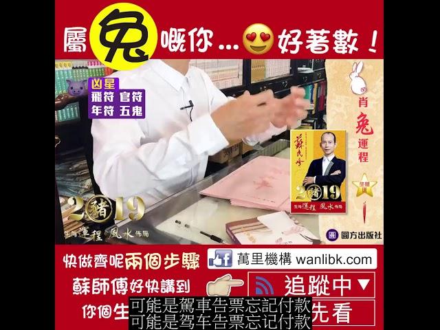 蘇民峰 2019豬 生肖運程*風水佈局 (兔) (繁简字幕)