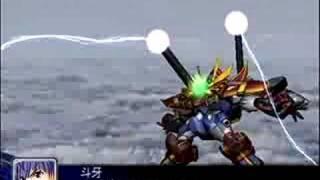 スーパーロボット大戦Zソルグラヴィオン戦闘シーン.