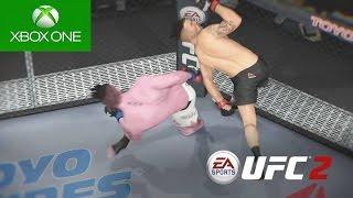 QUASE MATEI O ADVERSÁRIO !!! - EA Sports UFC 2 - Modo Carreira #06 [Xbox One]