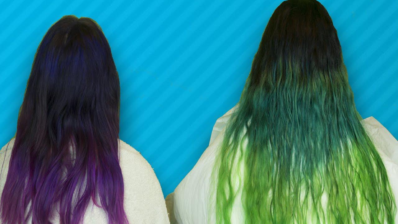 Como hacer degradado de color en tintes de fantasia youtube - Como hacer colores ...