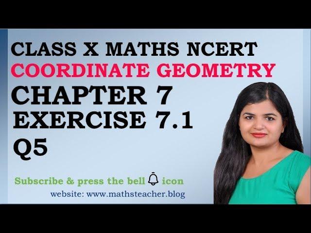 Chapter 7 Coordinate Geometry Ex 7.1 Q5 class 10 Maths
