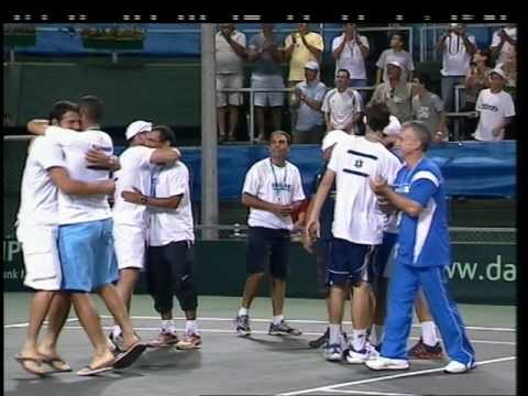 Davis cup Israel VS Chile Sela-Gonzales 5th set