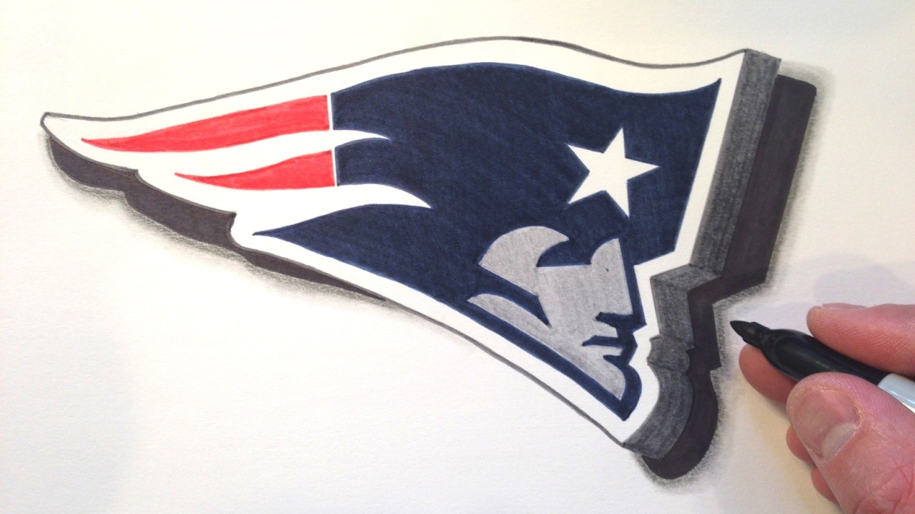 How To Draw The Patriots Logo In 3d Youtube
