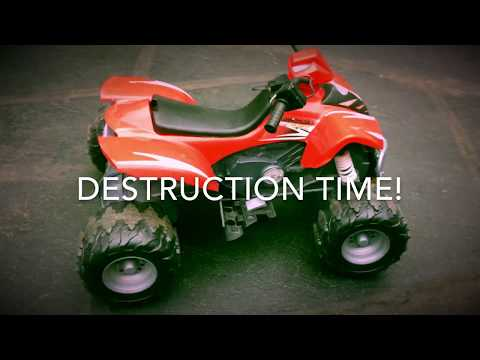 LIMIT PUSHING: 60 Volt PowerWheels ATV Destruction
