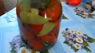 видео Помидоры с яблоками на зиму