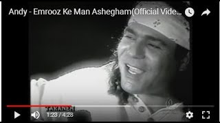 Andy - Emrooz Ke Man Ashegham(Official Video)