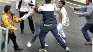 مضاربة هوشة ضرب  بين مصري وكويتي صارت ذبح مذابح