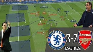Chelsea 3-2 Arsenal: Tactical Analysis - Sarri's Chelsea vs Unai Emery's Arsenal (PL)