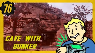 Fallout 76 Cave Base | Under Ground Bunker CAMP