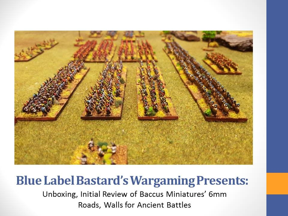 Hail Caesar Vlog #16 - Unboxing, Partial Review of Baccus Miniatures 6mm  Terrain