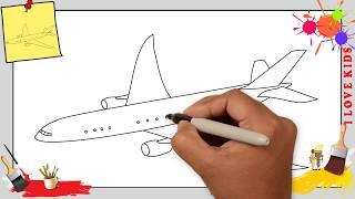 Flugzeug zeichnen schritt für schritt für anfänger & kinder - Zeichnen lernen