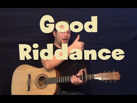 Good Riddance Green Day Easy Strum Guitar Lesson Fingerstyle
