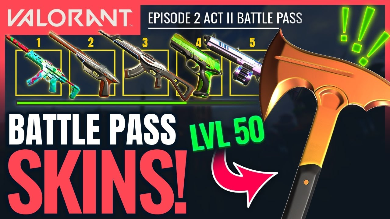 VALORANT | All Battle Pass Rewards & New Skins (Ep 2 Act 2) - YouTube