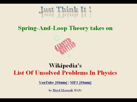 Consequences Of A Spring-And-Loop Theory 6: Solving The