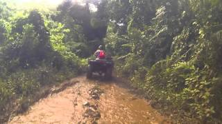 Getting sideways in the mud on Quad Bikes in Rarotonga, Cook Islands | GoPro