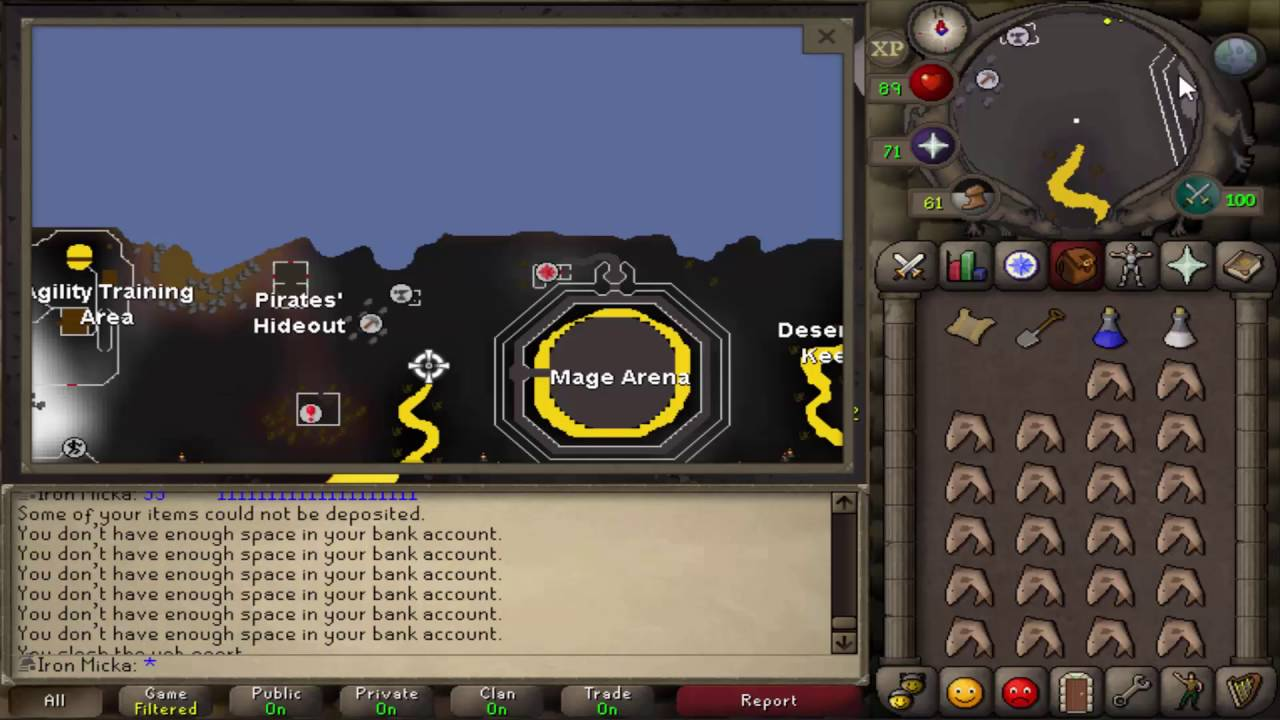 osrs - guthix left his mark in a fiery lake, dig at the tip of it