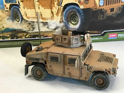 Building the Academy Models 1/35  M 1151 up armored Humvee