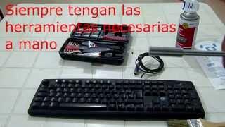 tutorial como desarmar un teclado