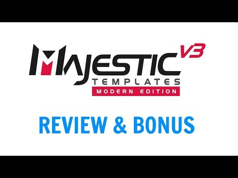 Majestic Templates V3 Modern Edition Review Bonus - High Quality Videos Created With Powerpoint