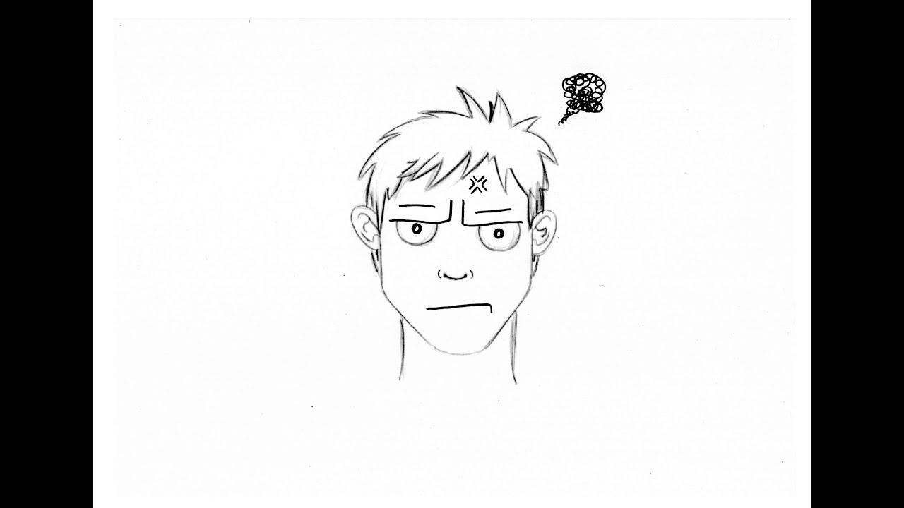 Dessiner une expression du visage : la lassitude ...