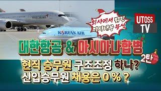 승무원구조조정 있을까 ? 대한항공&아시아나항공합…