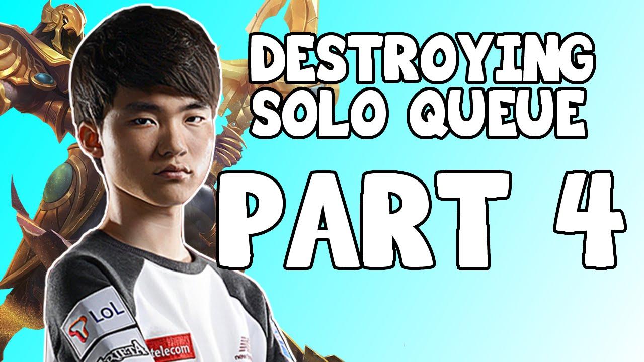 FAKER Destroying Solo Queue Part 4 || Stream Soloque