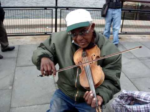 Violinist Playing Lebanese National Anthem in Battery Park, NY