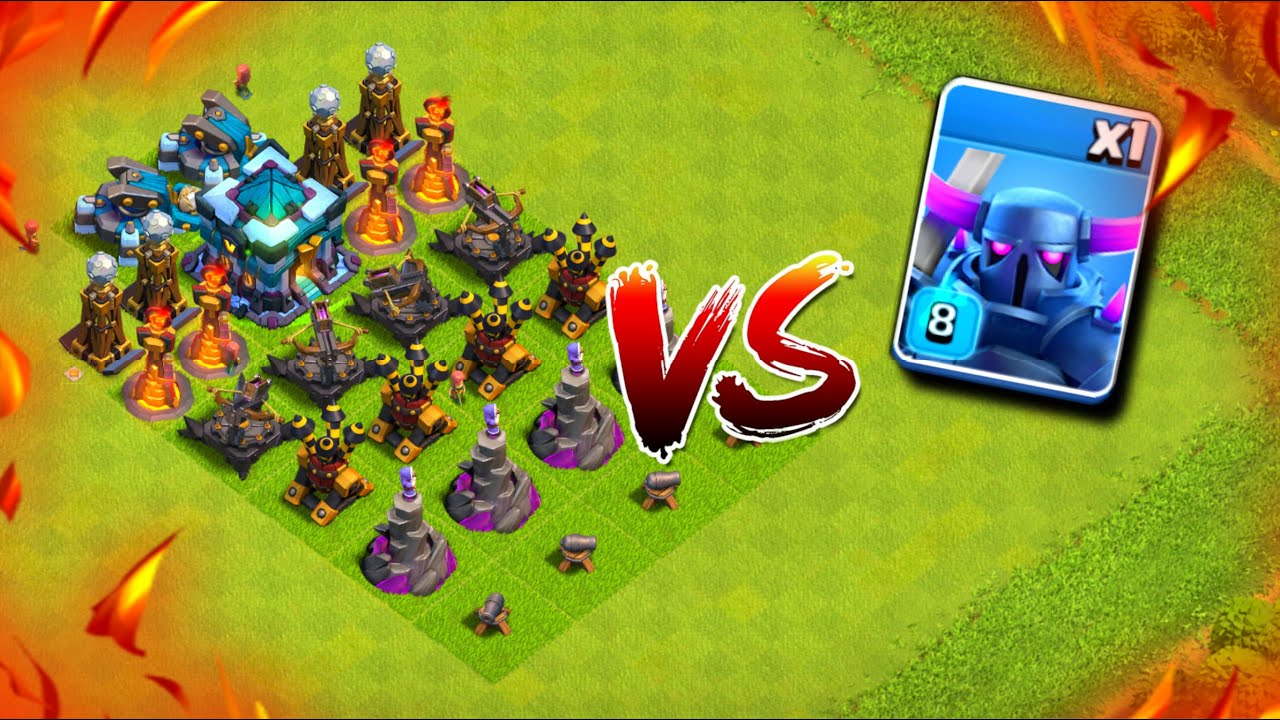 Troll Base Defence Vs Max Level Pekka | Pekka OP*