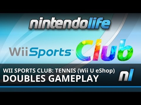 Wii Sports Club: Tennis (Wii U eShop) Doubles Gameplay