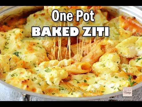 One Pot Baked Ziti With Ricotta