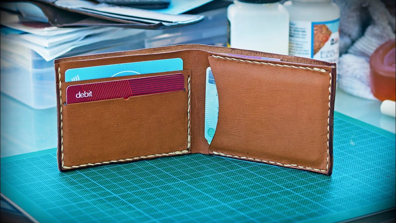 how to make a basic leather wallet new youtube