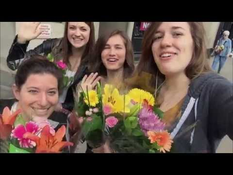 "The Society of American Florists took to the streets of New York City to brighten the mid-week slump for busy commuters. Naturally, people are thrilled to receive flowers, but watch what happens when they are given the chance to ""petal it forward."""