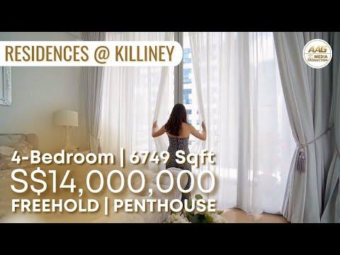 Singapore Condo Property Home Tour - Inside A $13.5 Million Penthouse at Residences @ Killiney